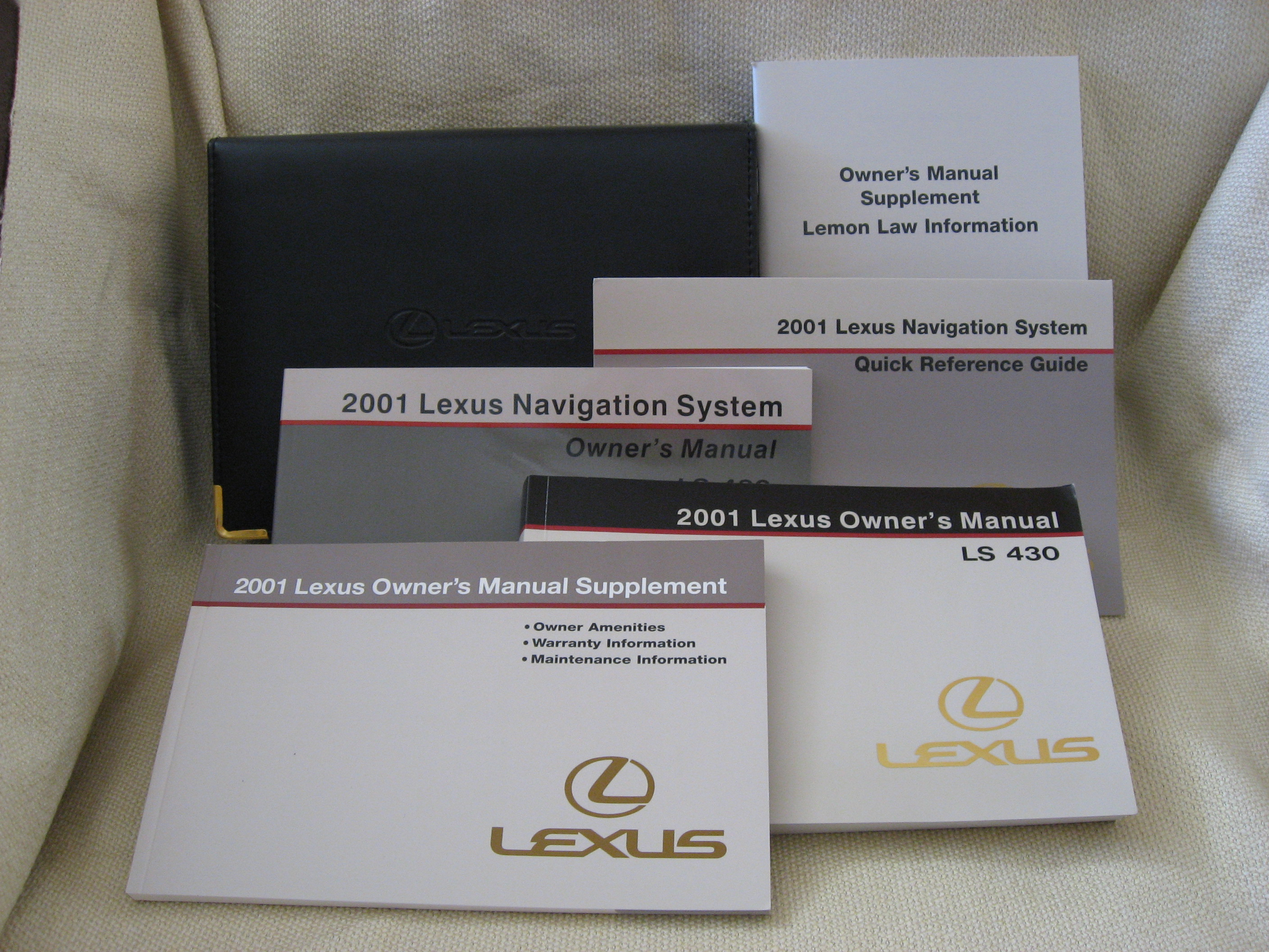 Lexus Owners Manuals